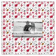 """Wisconsin Badgers Floral Pattern 10"""" x 10"""" Picture Frame"""