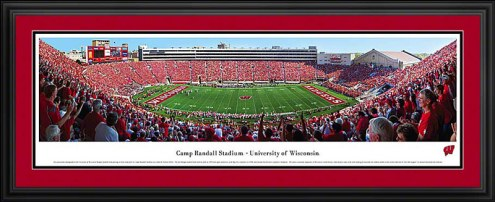 Wisconsin Badgers Football Deluxe Framed Panorama
