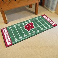 Wisconsin Badgers Football Field Runner Rug