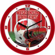 Wisconsin Badgers Football Helmet Wall Clock