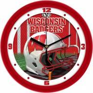 Wisconsin Badgers Football Helmet Wall Clock