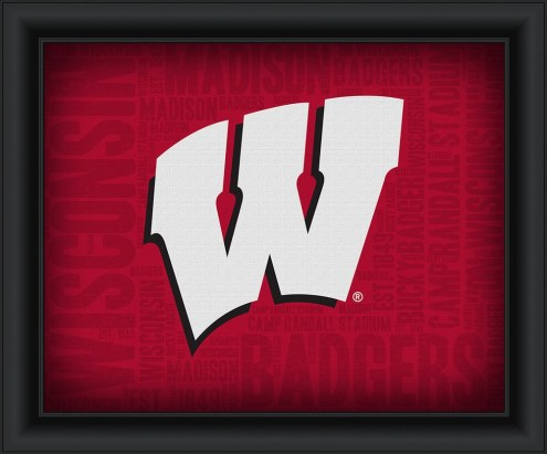 Wisconsin Badgers Framed Word Cloud