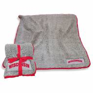 Wisconsin Badgers Frosty Fleece Blanket