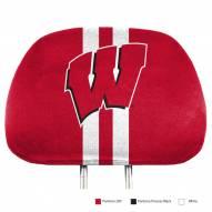 Wisconsin Badgers Full Print Headrest Covers