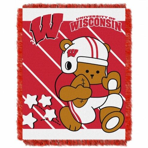 Wisconsin Badgers Fullback Baby Blanket