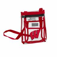 Wisconsin Badgers Gameday Clear Crossbody Tote