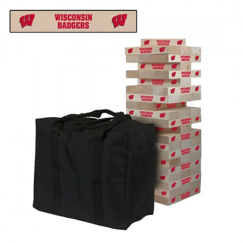 Wisconsin Badgers Giant Wooden Tumble Tower Game