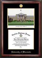 Wisconsin Badgers Gold Embossed Diploma Frame with Campus Images Lithograph