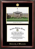 Wisconsin Badgers Gold Embossed Diploma Frame with Lithograph