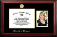 Wisconsin Badgers Gold Embossed Diploma Frame with Portrait