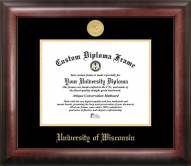 Wisconsin Badgers Gold Embossed Diploma Frame