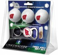 Wisconsin Badgers Golf Ball Gift Pack with Key Chain