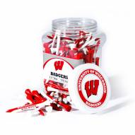 Wisconsin Badgers 175 Golf Tee Jar