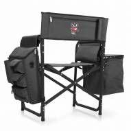 Wisconsin Badgers Gray/Black Fusion Folding Chair