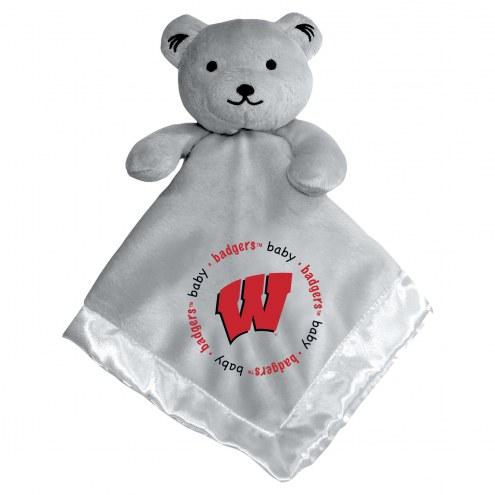 Wisconsin Badgers Gray Infant Bear Security Blanket