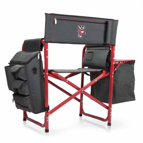 Wisconsin Badgers Gray/Red Fusion Folding Chair