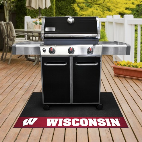 Wisconsin Badgers Grill Mat