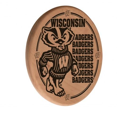 Wisconsin Badgers Laser Engraved Wood Sign