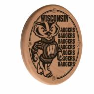 Wisconsin Badgers Laser Engraved Wood Sign