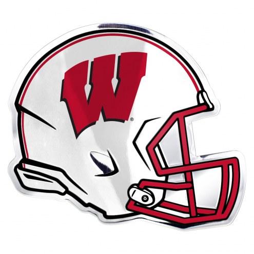 Wisconsin Badgers Helmet Car Emblem
