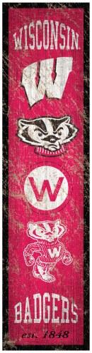 Wisconsin Badgers Heritage Banner Vertical Sign