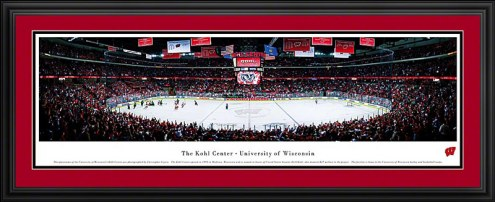 Wisconsin Badgers Hockey Deluxe Framed Panorama