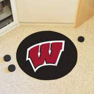 Wisconsin Badgers Hockey Puck Mat