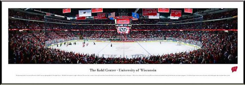 Wisconsin Badgers Hockey Standard Framed Panorama