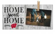 Wisconsin Badgers Home Sweet Home Clothespin Frame