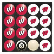 Wisconsin Badgers Billiard Balls - Full Set