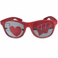 Wisconsin Badgers I Heart Game Day Shades