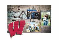 Wisconsin Badgers I Love My Family Clip Frame