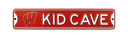 Wisconsin Badgers Kid Cave Street Sign