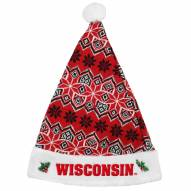 Wisconsin Badgers Knit Santa Hat