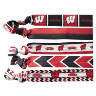 Wisconsin Badgers Knotted Hair Tie