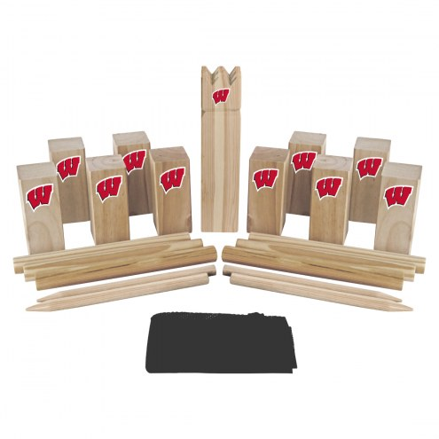 Wisconsin Badgers Kubb Viking Chess