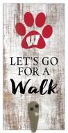 Wisconsin Badgers Leash Holder Sign