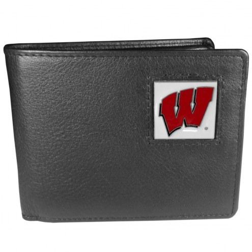 Wisconsin Badgers Leather Bi-fold Wallet
