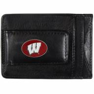 Wisconsin Badgers Leather Cash & Cardholder