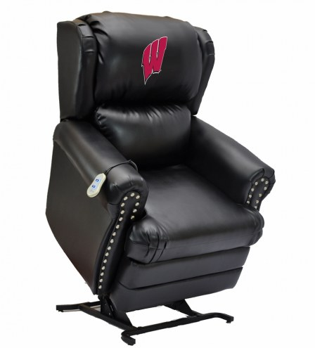 Wisconsin Badgers Leather Coach Lift Recliner