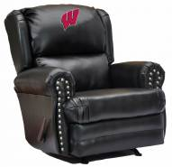 Wisconsin Badgers Leather Coach Recliner