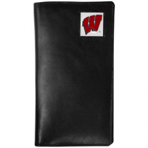 Wisconsin Badgers Leather Tall Wallet