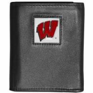 Wisconsin Badgers Leather Tri-fold Wallet