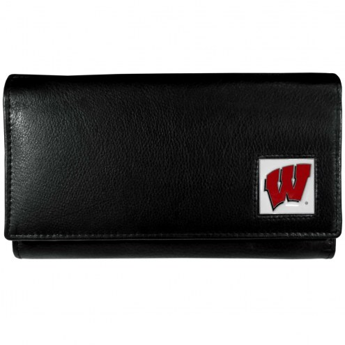 Wisconsin Badgers Leather Women's Wallet