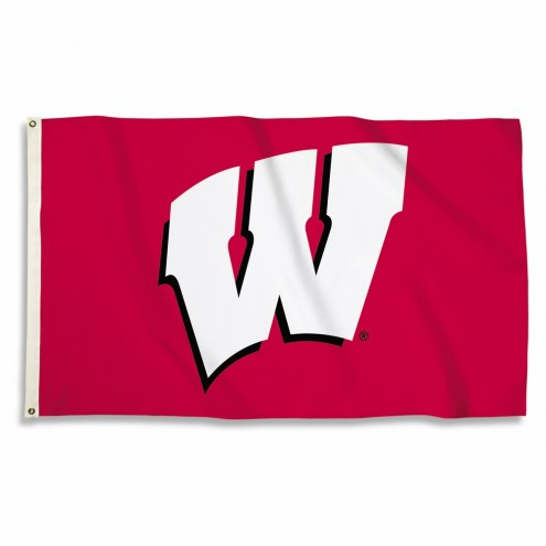 Wisconsin Badgers Logo 3' x 5' Flag