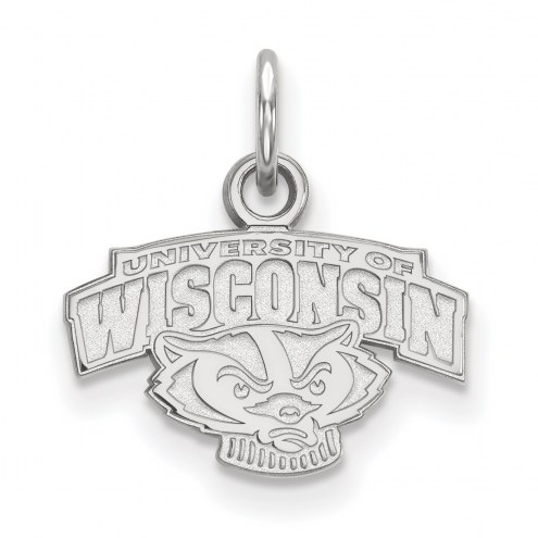 Wisconsin Badgers Sterling Silver Extra Small Pendant