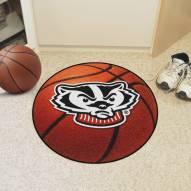 Wisconsin Badgers Logo Basketball Mat