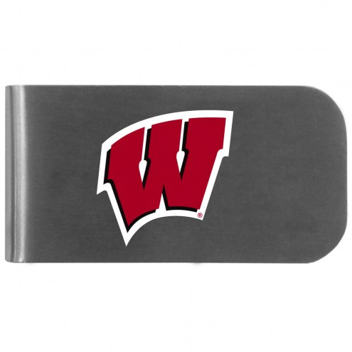 Wisconsin Badgers Logo Bottle Opener Money Clip