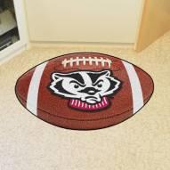 Wisconsin Badgers Logo Football Floor Mat