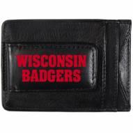 Wisconsin Badgers Logo Leather Cash and Cardholder